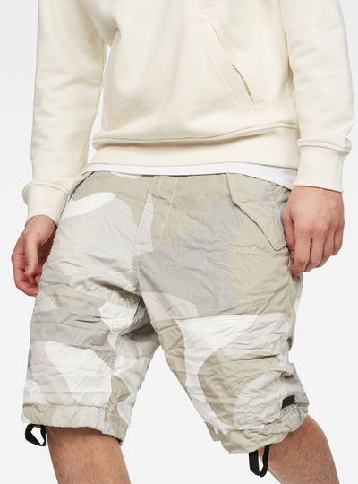 Rovic Deconstructed Loose 1/2-Length Shorts