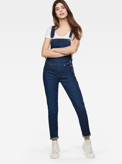 D-Staq 5-Pocket High-Waist Skinny Overalls
