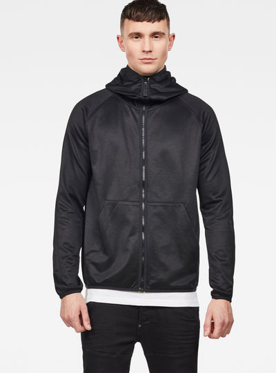 Strett Slim Hooded Zip Thru Sweater