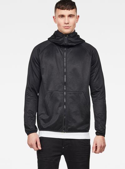 900e0bb5037 Strett Slim Hooded Zip Thru Sweater ...