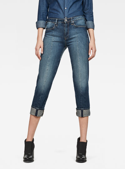Lanc 3D High waist Straight 7/8-Length Prestored Jeans
