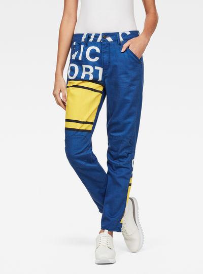 5622 3D Mid Boyfriend Color Pants
