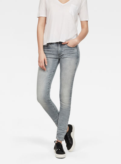 3301 Deconstructed Mid Waist Straight Jeans