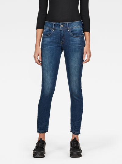 Lynn Mid Skinny Ripped Ankle Jeans