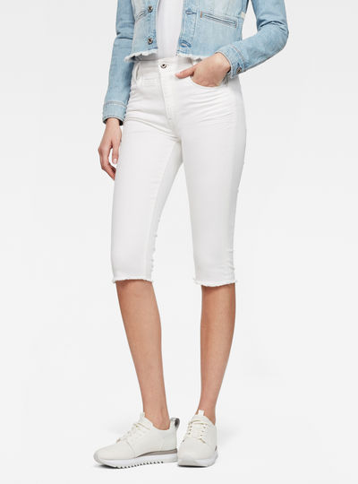 D-Staq 5-Pocket Ripped High Waist Capri