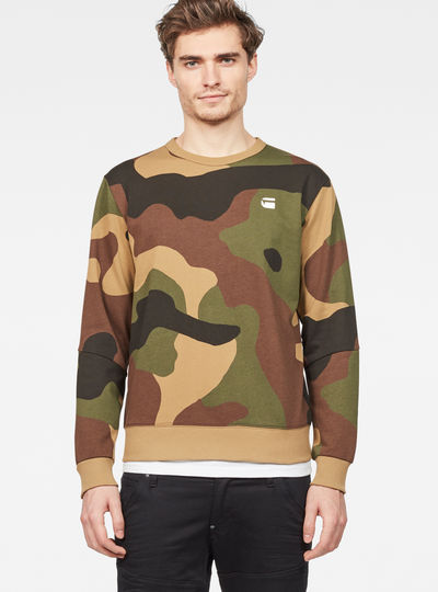 Oversized Dutch Camo Stalt Deconstructed Sweater