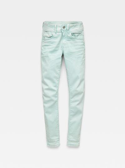 Lynn D-Mid waist Super Skinny Ankle-Cut Color Jeans