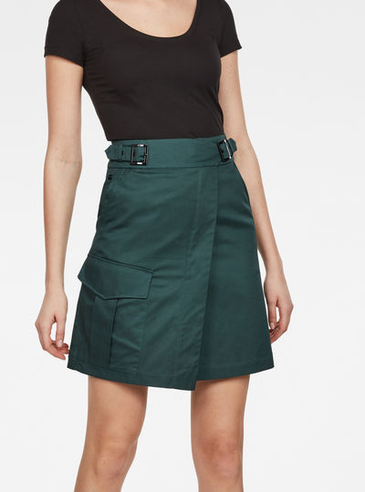 Bristum Army Wrap Skirt