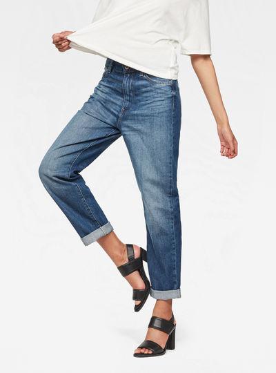 Midge Deconstructed High Waist Boyfriend Jeans