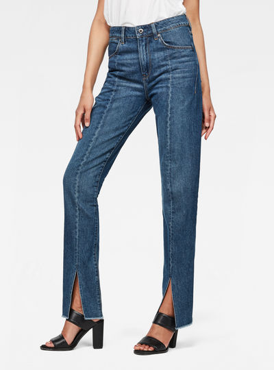 Lanc 3D High waist Straight 90s Ripped Jeans