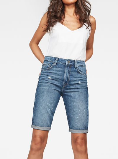 3301 High waist Straight Ripped Shorts
