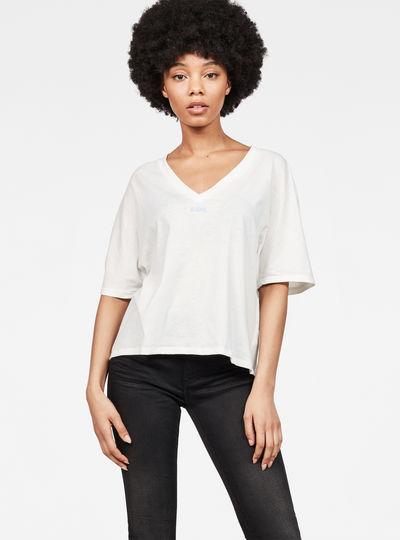 Collyde Small Art Loose V-Neck T-Shirt