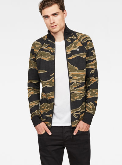 Jirgi Tiger Pattern Zip Cardigan