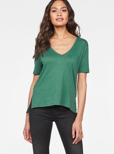 Raw Correct Ovvela Straight Deep-V 1/2-Sleeve T-Shirt