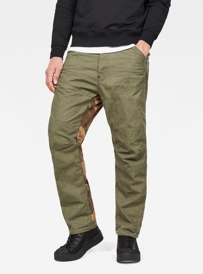 5620 Pattern-Mix 3D Loose Jeans