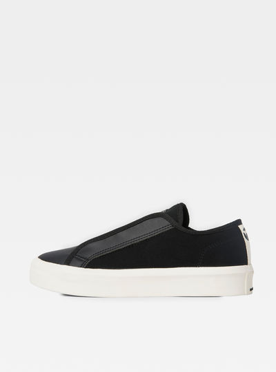 Strett Leather-Mix Sneakers