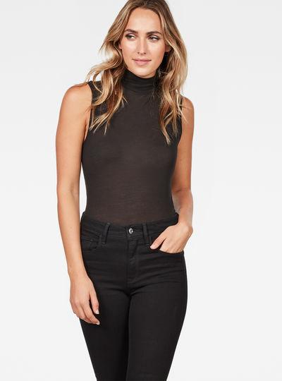 Deline Slim Funnel Sleeveless T-Shirt