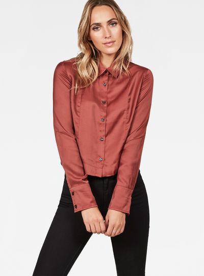 Vodan Dc Cropped Open Back Shirt