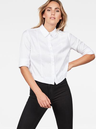 Vodan Dc Cropped Open Back Shirt