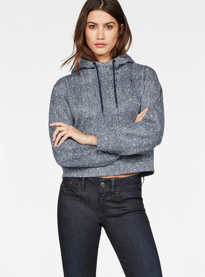 Pugna Relaxed Cropped Hooded Sweat