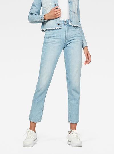 3301 High waist Straight 90s Ankle-Cut Jeans