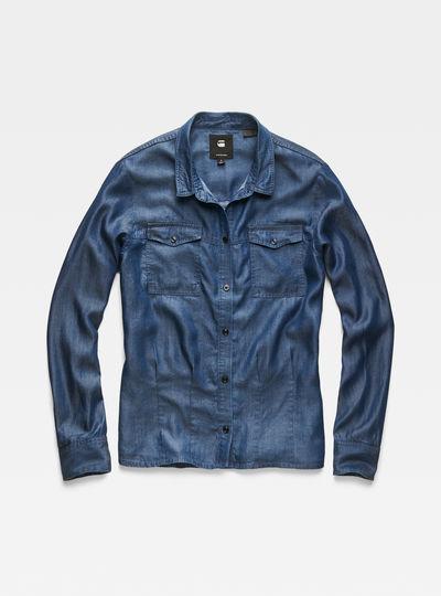 Rovic Pleated Denim Shirt