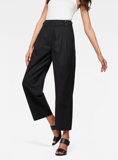 Bristum Pleated Wide Leg Chino