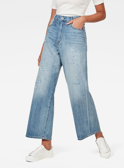 D-Staq 5-Pocket High Waist Wide Leg Jeans