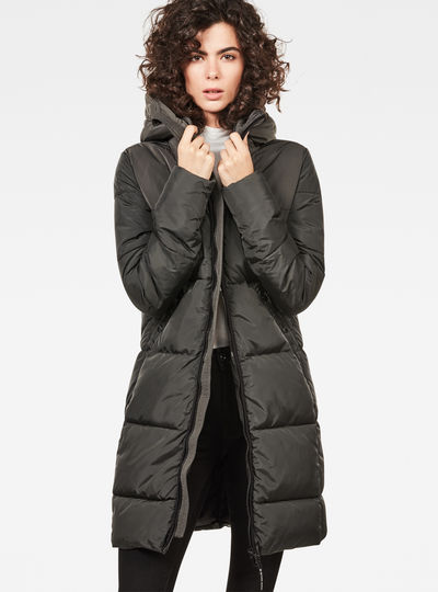 Whistler Hooded Quilted Slim Long Coat