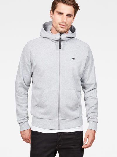 Strett Dc Hooded Zip Thru Sweater