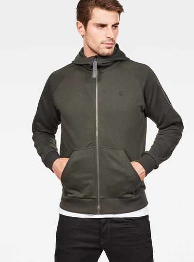 Strett Dc Hooded Zip Thru Sweater