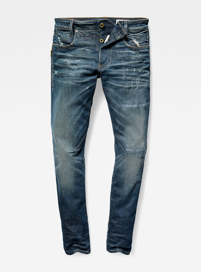 D-Staq 5-Pocket Zip Slim Jeans