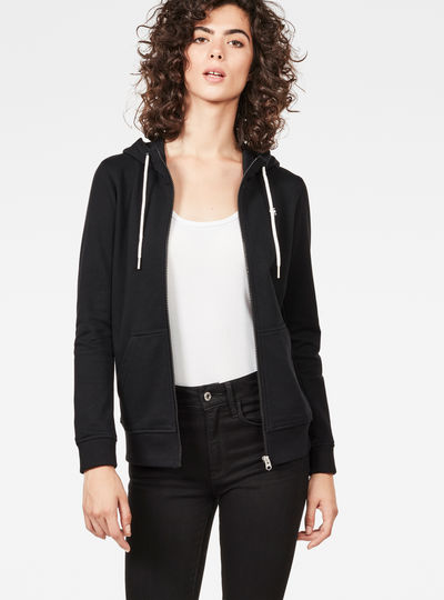 Aerva Slim Hooded Zip Thru Sweater