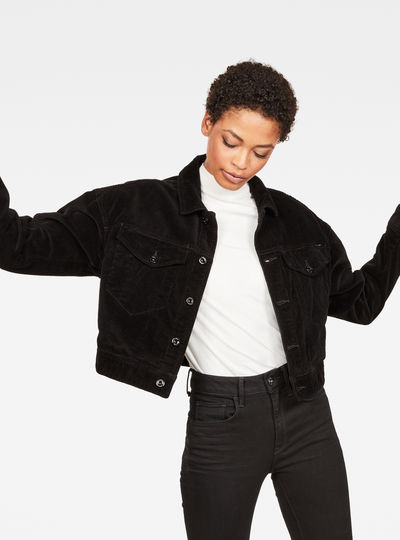 D-Staq Oversized Cropped Jacket