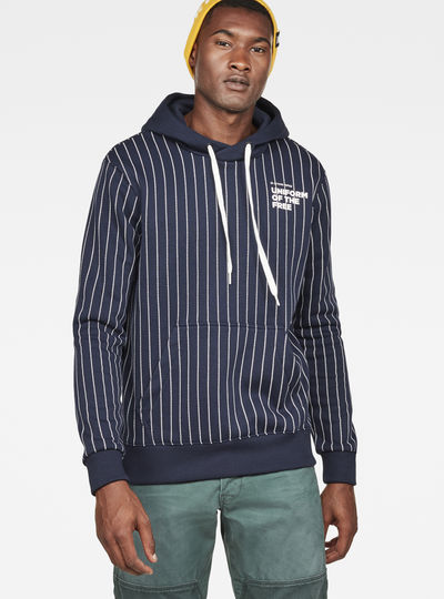 Core Hooded Pinstripe 1  Sweat