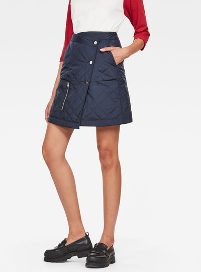 Powel Quilted Wrap Skirt