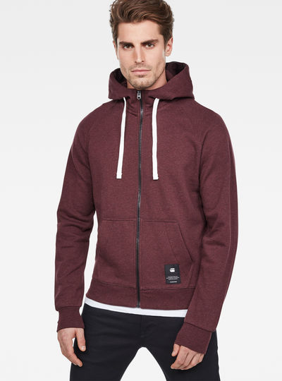 0118f03b36f Manes Raglan Hooded Zip Sweat