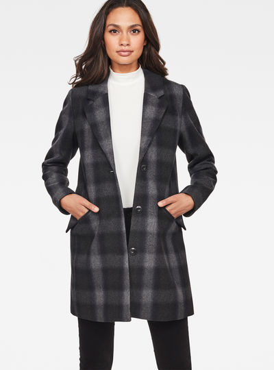 Minor SB Wool Check Coat