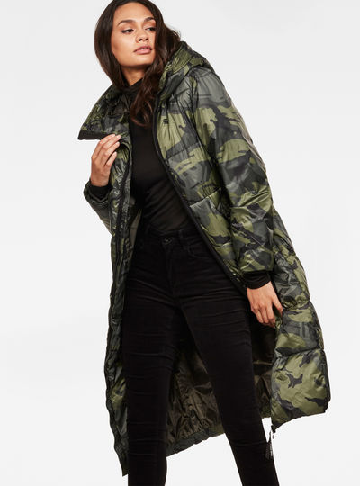 Whistler Hooded Boyfriend Padded Long Coat