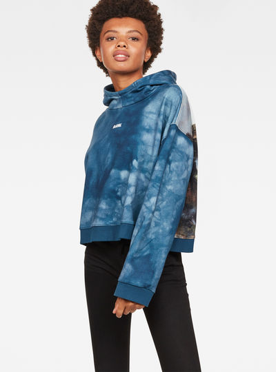 Cheiri Water Relaxed Cropped Hooded Sweat