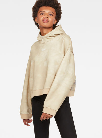 Cheiri Earth Relaxed Cropped Hooded Sweat