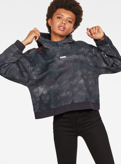 Cheiri Eclipse Relaxed Cropped Hooded Sweat