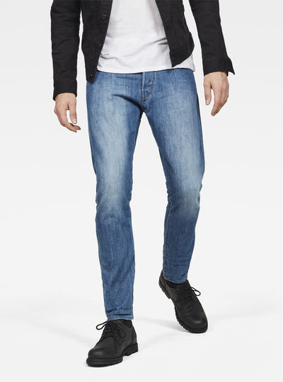 3301 Deconstructed Tapered Jeans