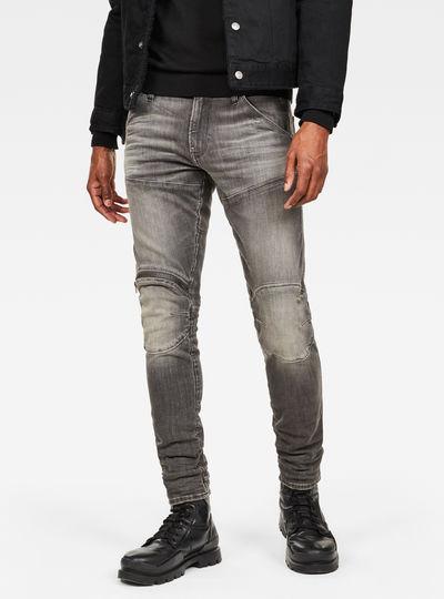 5621 G-Star Elwood 3D Zip Knee Skinny Jeans