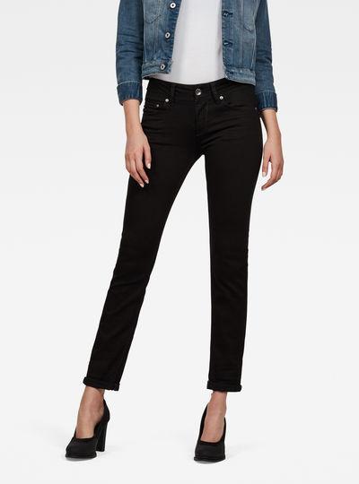 Midge Saddle Mid-Waist Straight Jeans