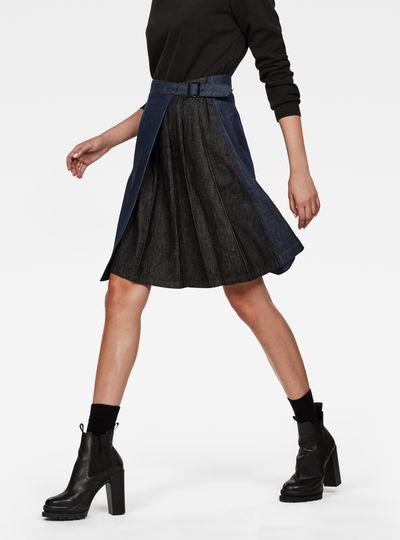 5621 Wrap Pleated Knee Length Skirt