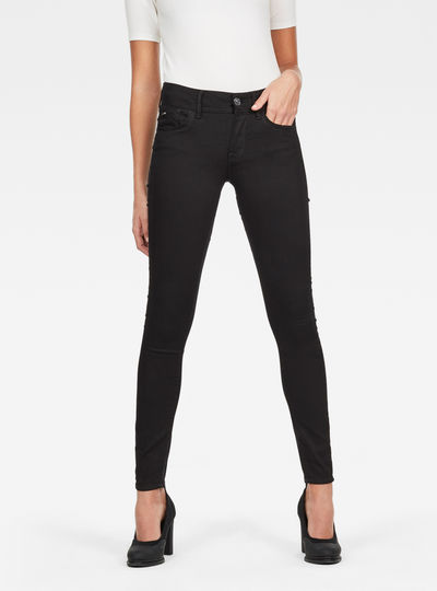 Lynn Deconstructed Mid Waist Skinny Jeans