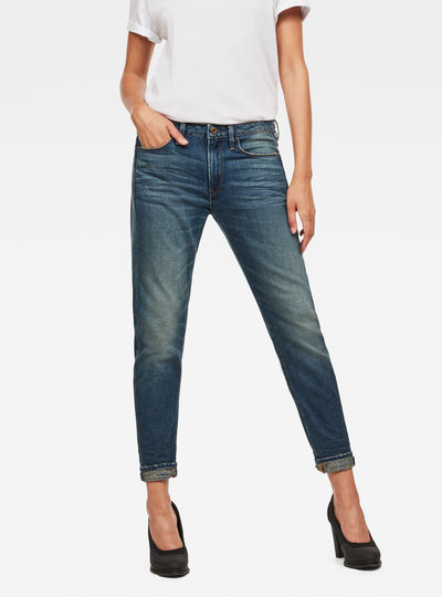 Chinese NY 3D Low Waist Boyfriend Jeans