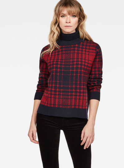 Sangona Check Turtle Knit