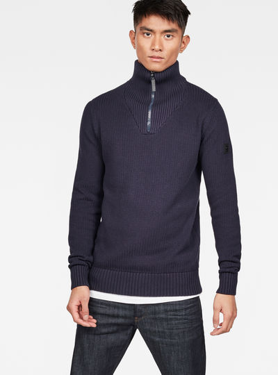 Omohundro Zip Turtle Knit